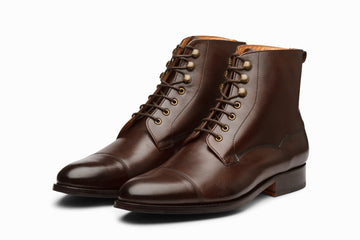 Balmoral Derby Boot - Dark Brown