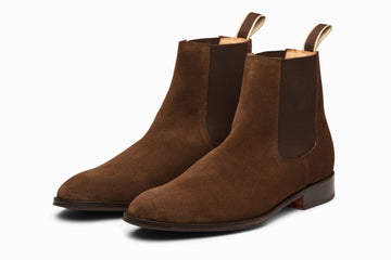 Chelsea Boot - Dark Brown Suede
