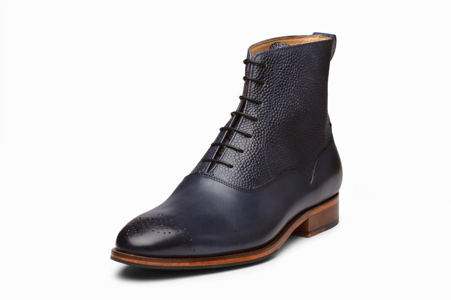 Balmoral Leather Boot - Blue