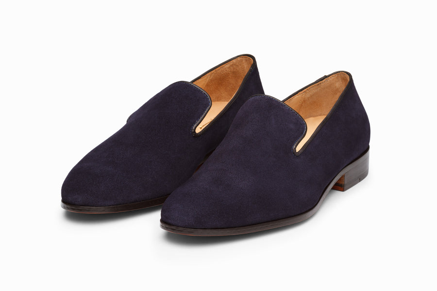 Venetian Loafer - Navy Suede