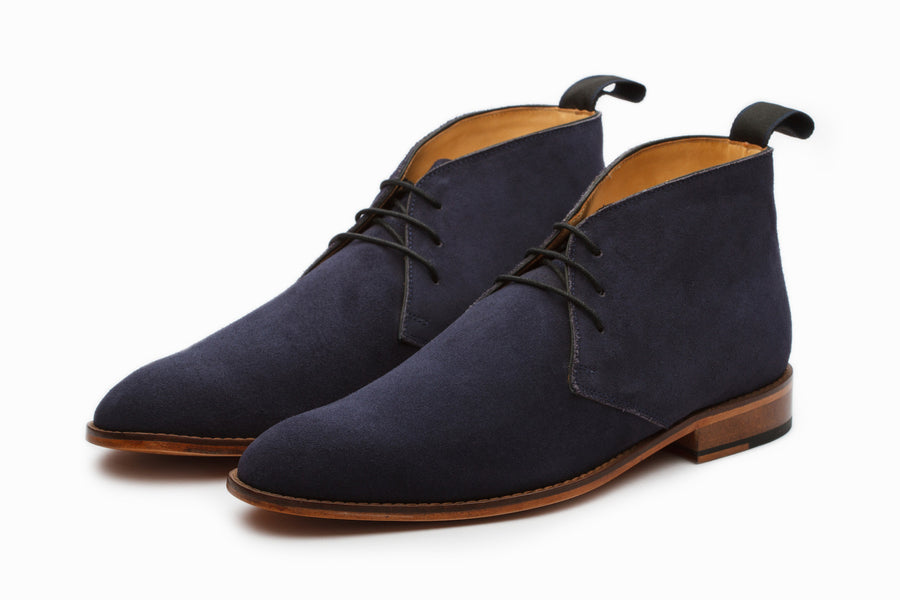 Boots - Chukka Boot - Navy Suede