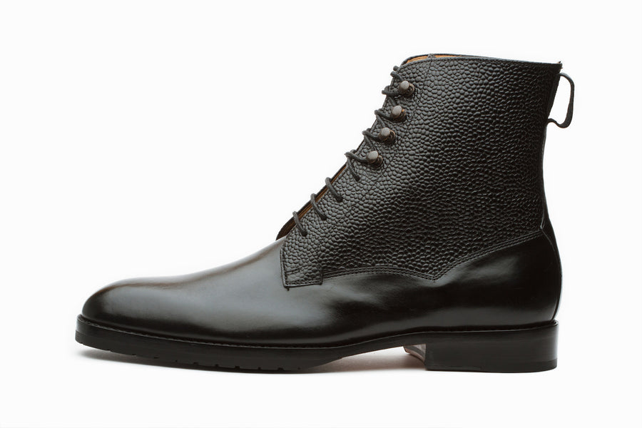 Boots - Field Grain Leather Boots - Black