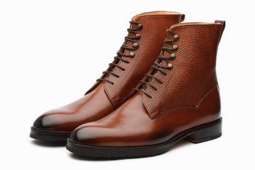 Boots - Field Grain Leather Boots - Sequoia