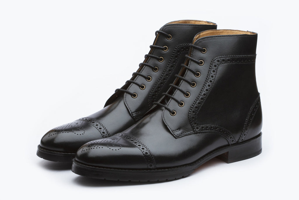 Boots - Toecap Brogue Boot - Black