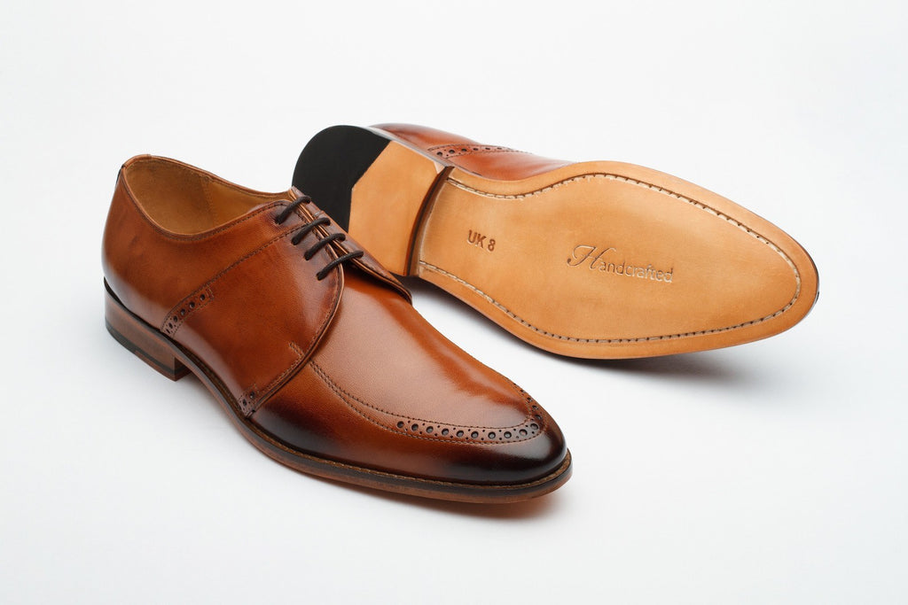 Derby - Brogue Derby - Tan
