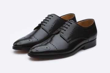 Derby - Brogue Derby With Perforations - Black