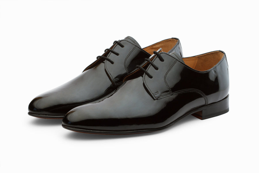 Derby - Plain Derby - Patent Black