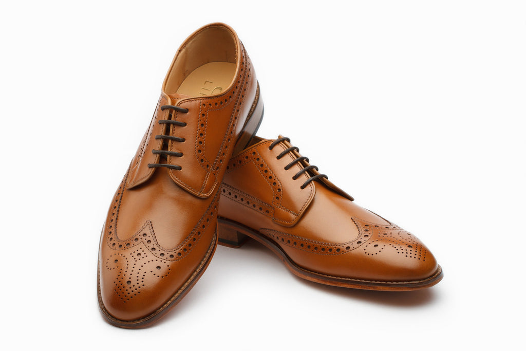 Derby - Wingtip Derby Brogue - Tan