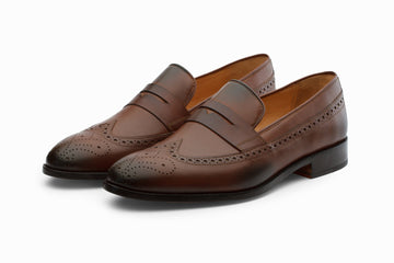 Loafers - Longwing Brogue Loafers - Brown