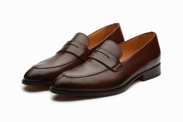 Loafers - Lopez Leather Penny Loafers - Brown