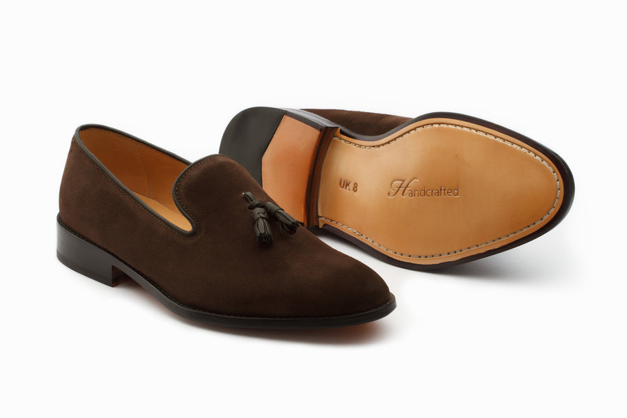 Loafers - Tassel Loafers - Brown Suede