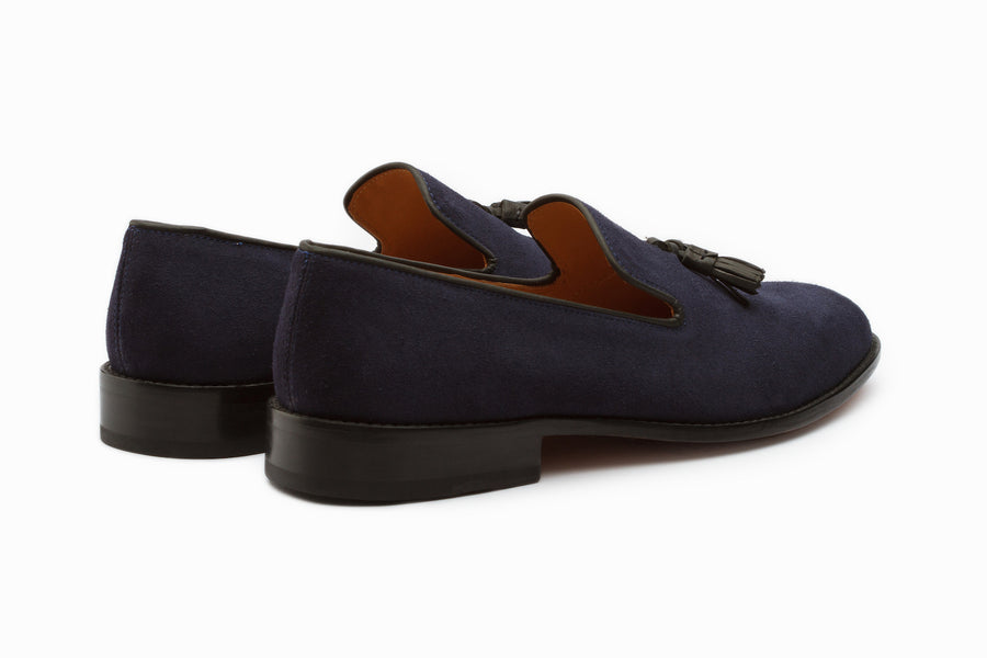 Loafers - Tassel Loafers - Navy Suede