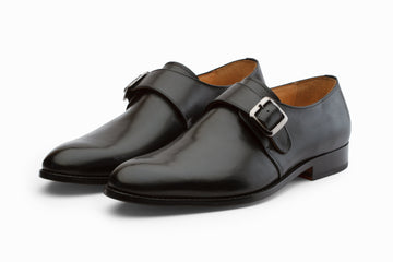 Monkstraps - Plain Toe Monkstrap - Black