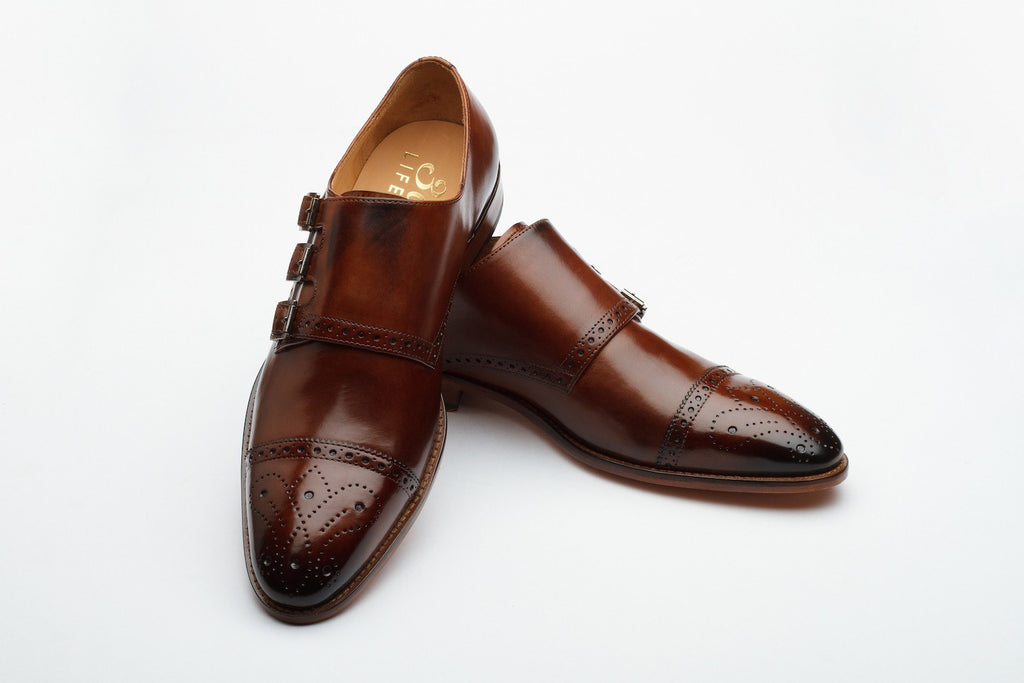 Monkstraps - Triple Strap Monk - Medium Brown