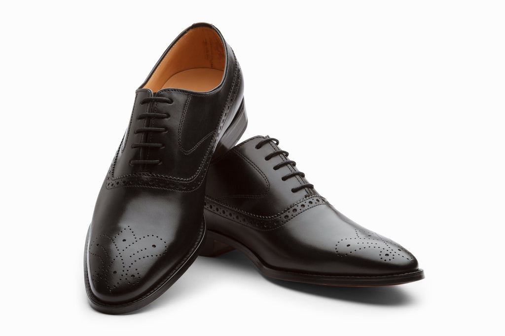Oxfords - Medallion Brogue Oxford - Black