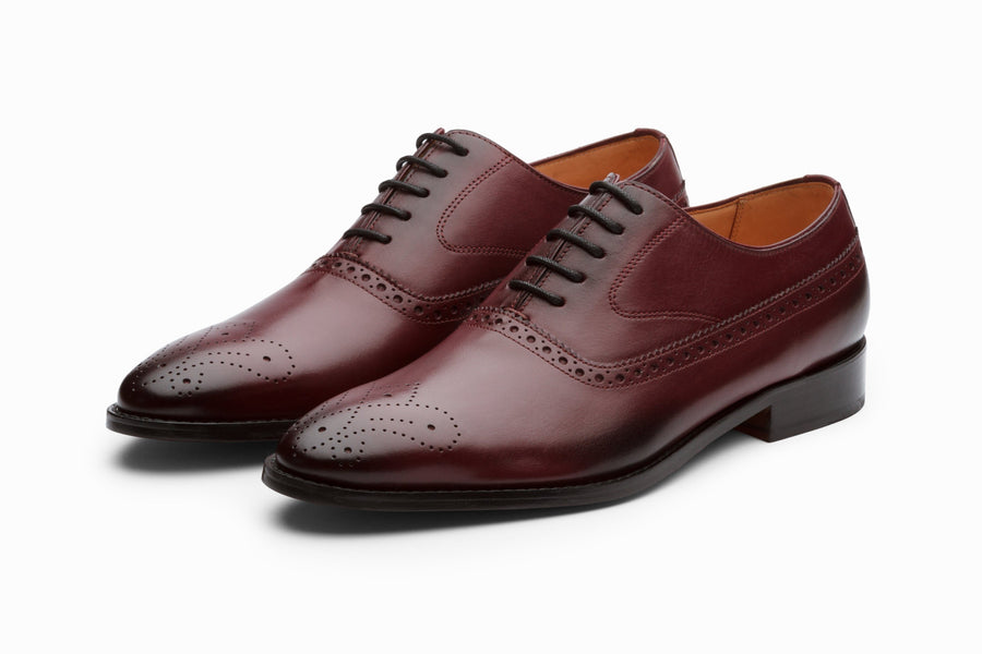 Oxfords - Medallion Brogue Oxford - Burgundy