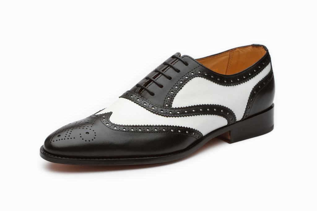 Oxfords - Spectator Wingtip Oxford - Black/White