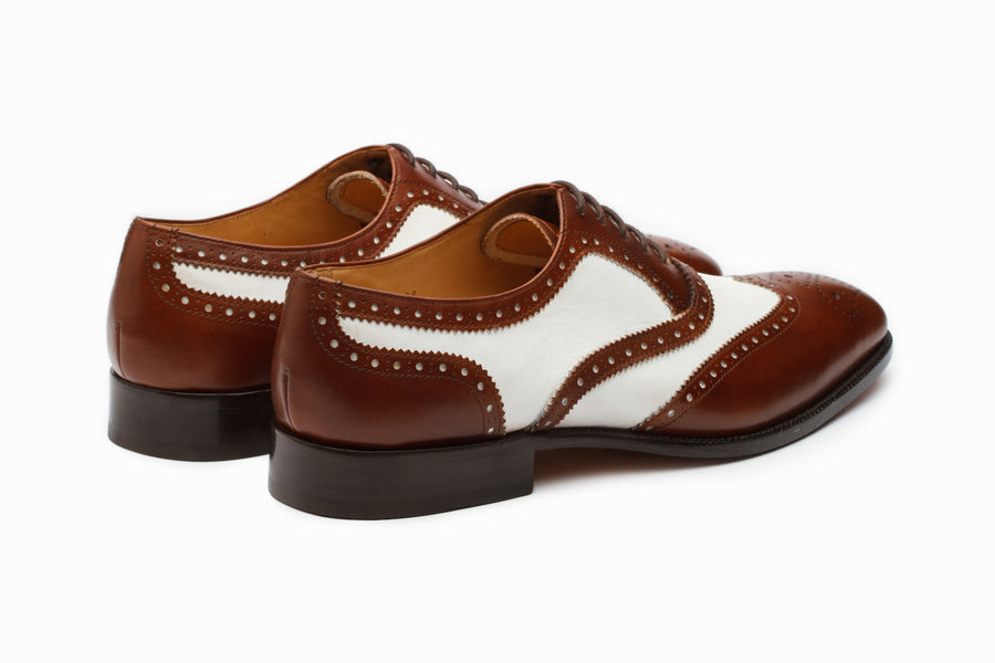Oxfords - Spectator Wingtip Oxford - Brown/White