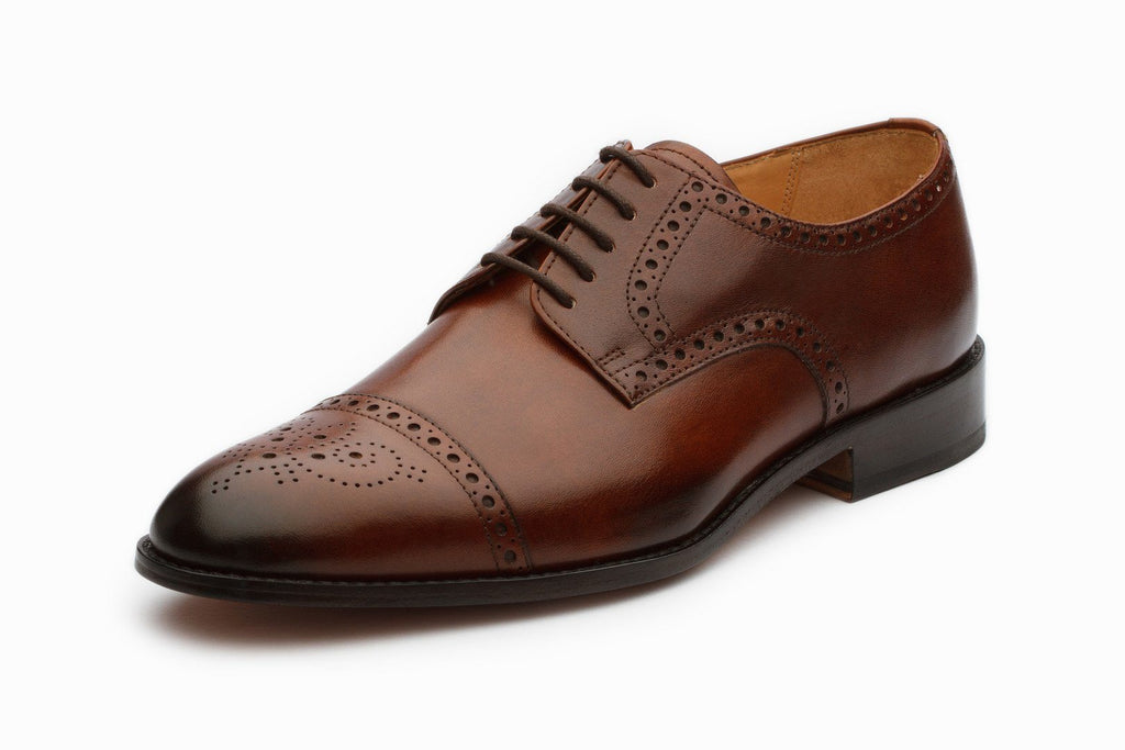 Oxfords - Toecap Derby Brogue - Brown