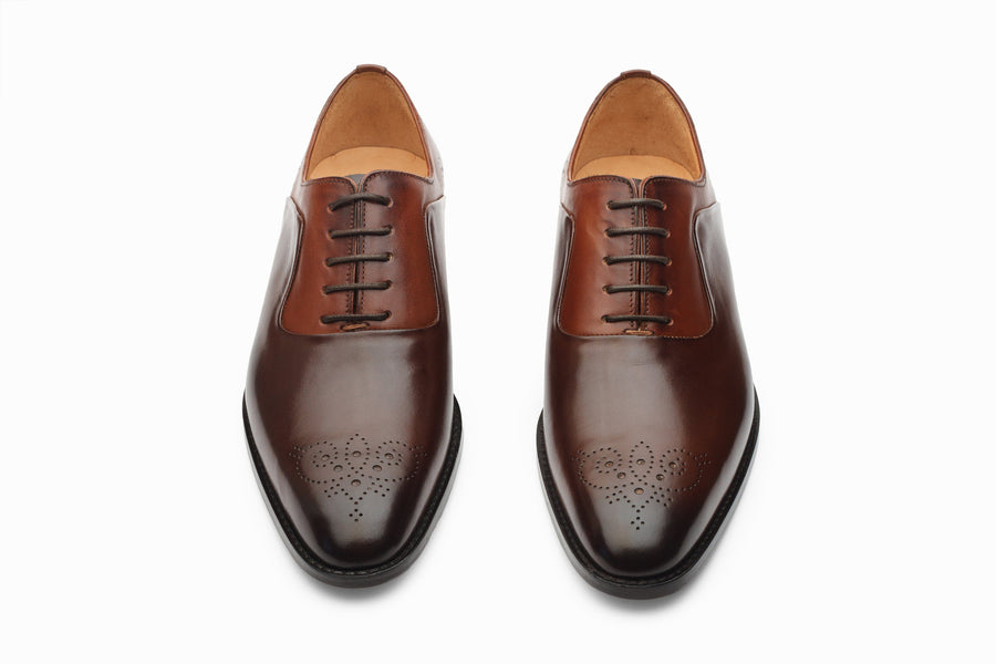 Oxfords - Twin Color Medallion Oxford - Brown