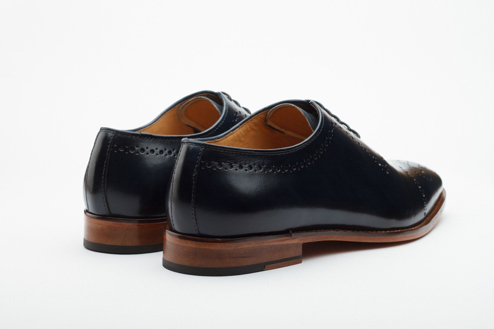 Oxfords - Wholecut Medallion Oxford - Navy