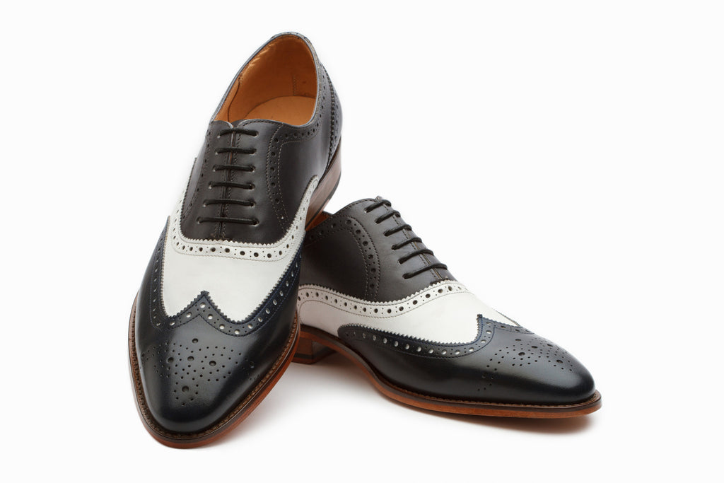 Oxfords - Wingtip Brogue Oxford - Grey/Navy