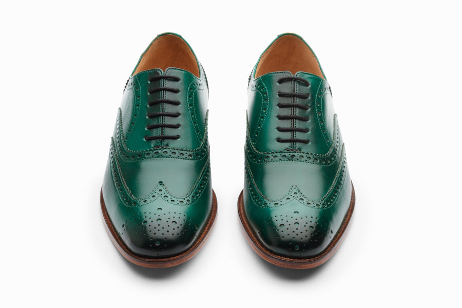Oxfords - Wingtip Brogues - Bottle Green
