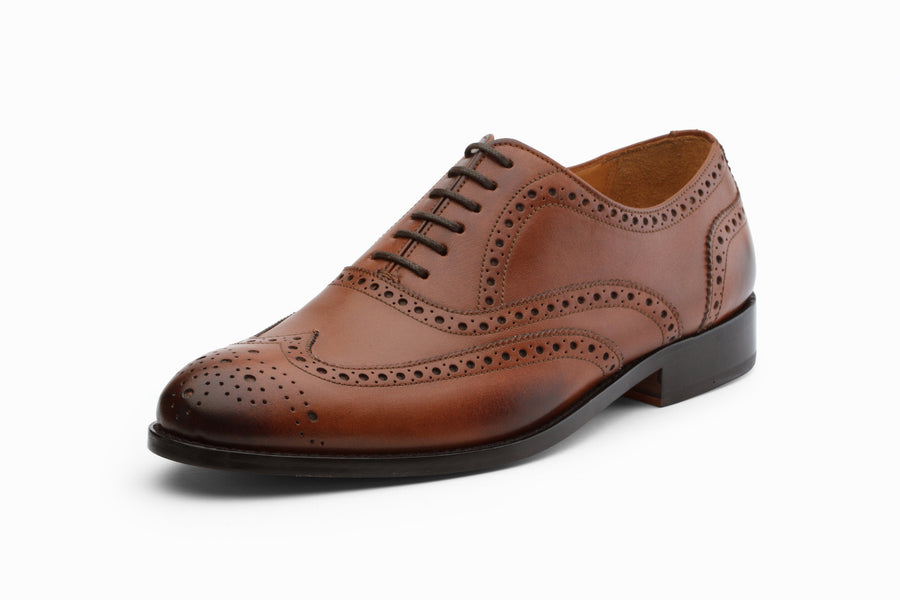 Oxfords - Wingtip Brogues - Dark Cognac