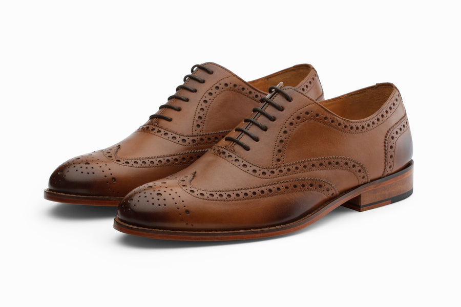Oxfords - Wingtip Brogues - Tan