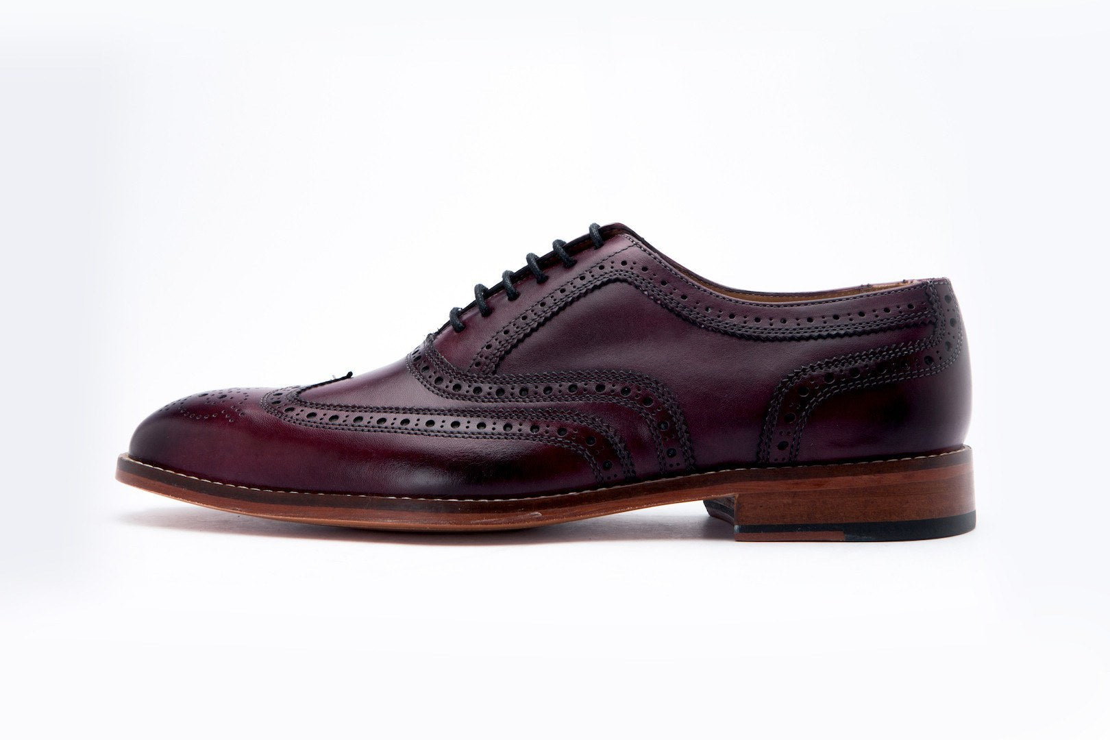 Oxfords - Wingtip Oxford Classic - Burgundy
