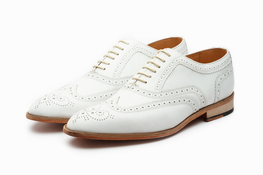 Wingtip Oxford Classic - White