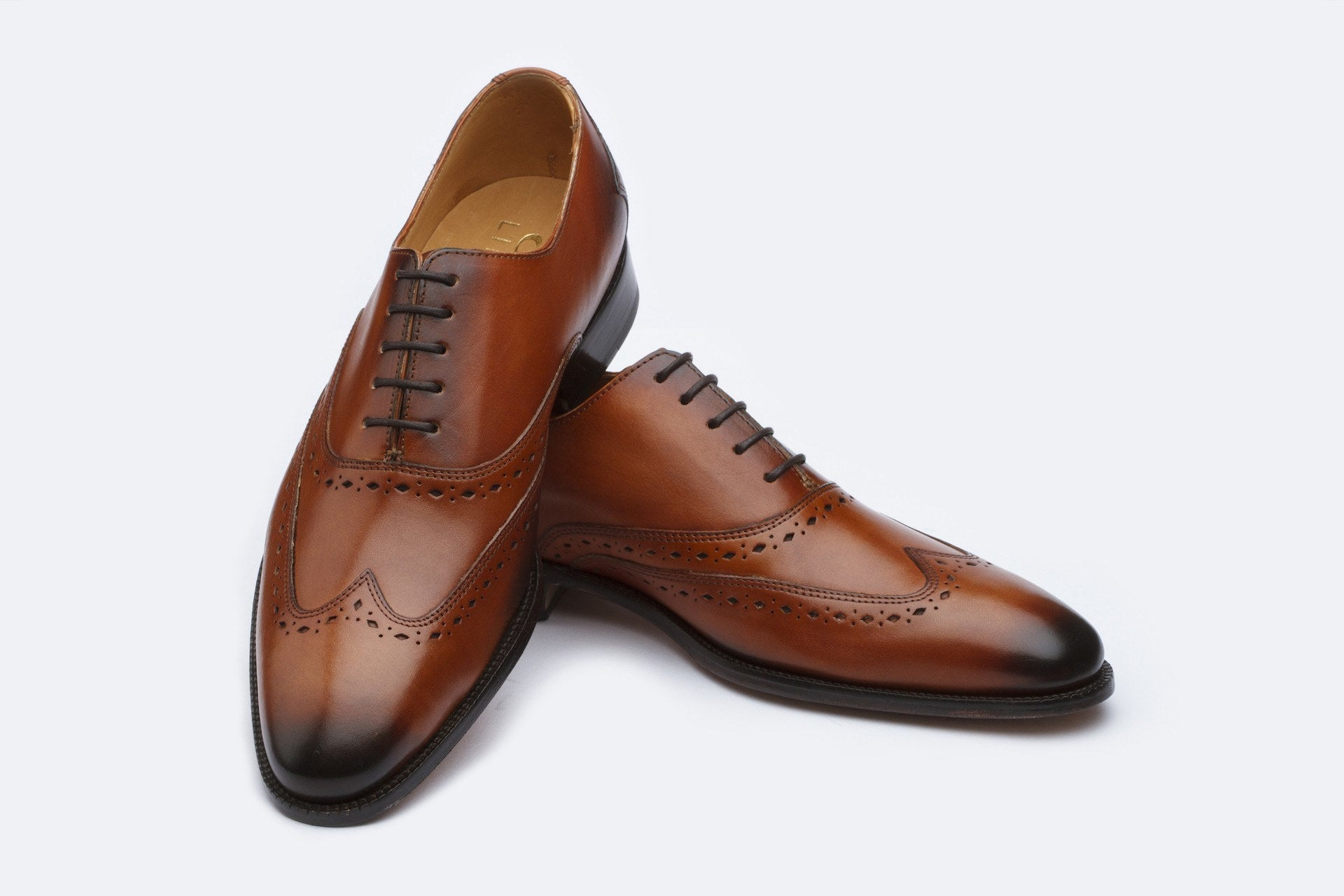 Oxfords - Wingtip Oxford - Cognac