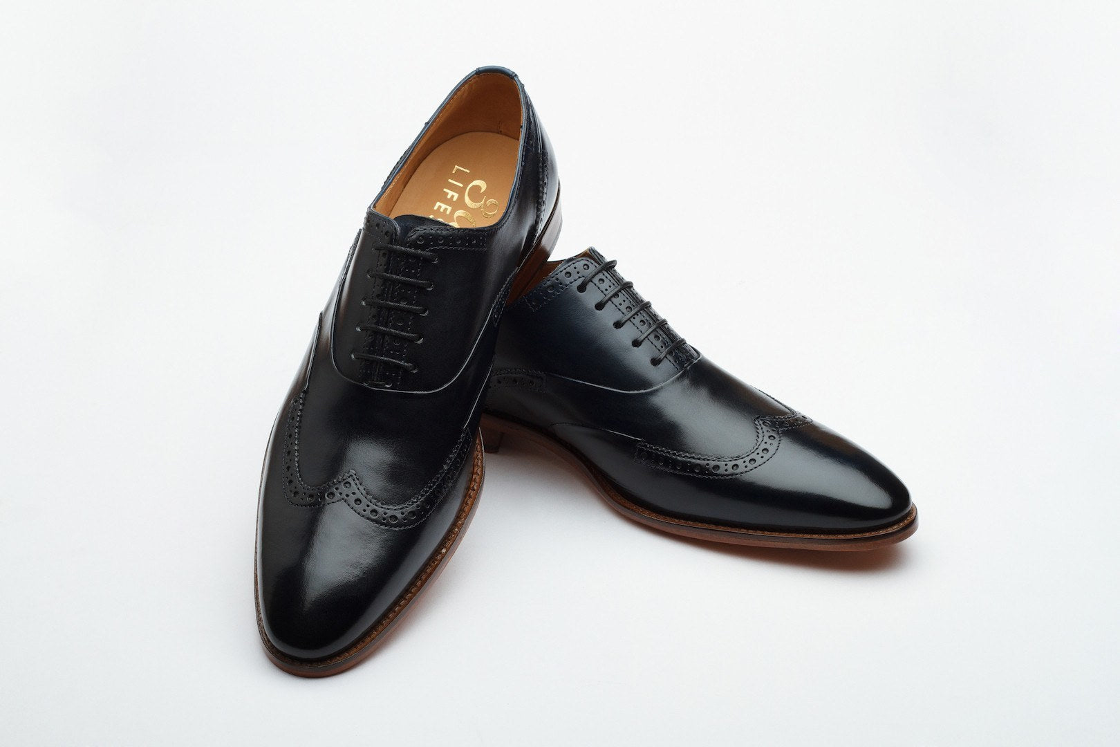 Oxfords - Wingtoe Oxford Brogue - Navy
