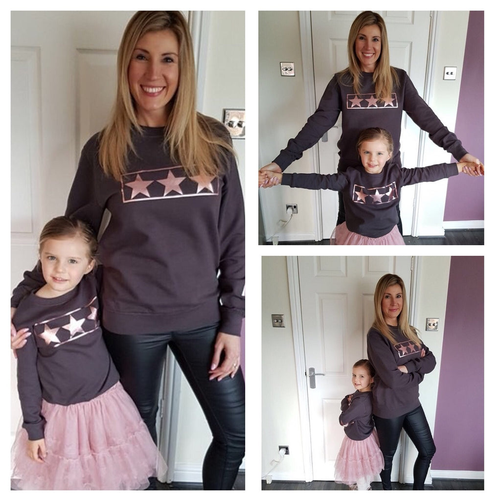 Mummy & Me Rose Gold Design Sweatshirts