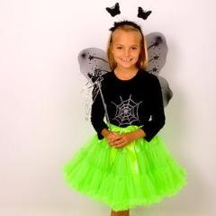 Halloween Ghoulish Pettiskirt and Wings & Wand Set