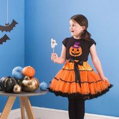 Halloween Orange & Black Pettiskirt Tutu