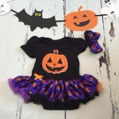 Halloween Pumpkin Onesie and Pettiskirt Tutu