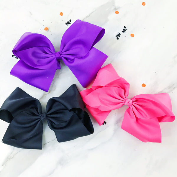 "Halloween Party Pack of 3 Ginormous 10"" Boutique Bows"