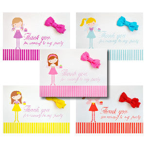party bag fillers with bows hair bows thank you cards