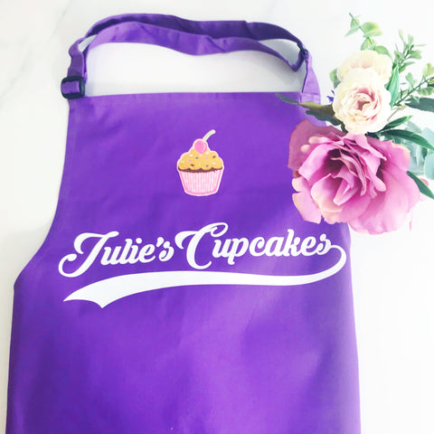 Adult Personalised Cupcake Apron, Mother's Day Gift, Perfect Gift for Mum, Sister, Daughter