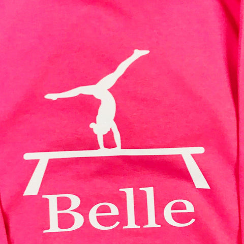 Girls' Gymnastics Personalised Hoodie  (4 colours)
