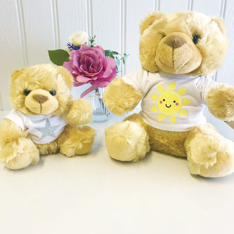 Smiley Sunshine Personalised Candy Teddy Bear