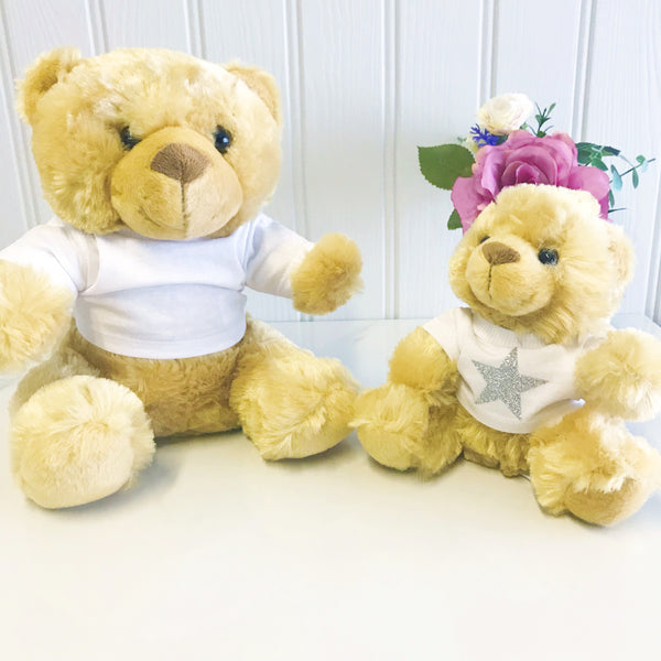 Glittery Star Personalised Candy Teddy Bear