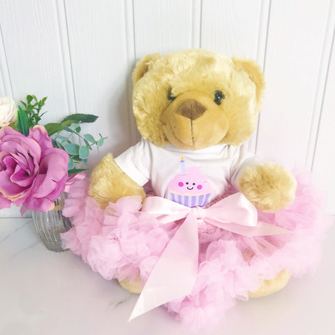 Cute Birthday Cake Personalised Candy Bear