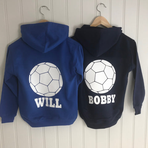Boys'  Football Personalised Activity Hoodie (3 colours available)