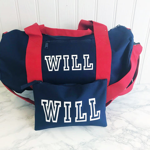 Boys' Personalised Wash Bag, Accessories Bag - 5 Colour Options