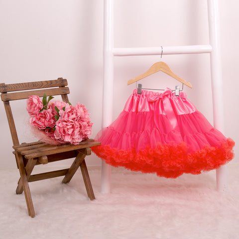 Flamingo Mix Pettiskirt Tutu & Satin Bow