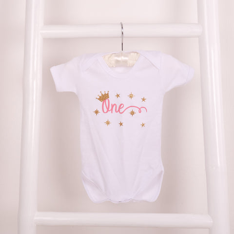 Baby Girls First Birthday Onesie