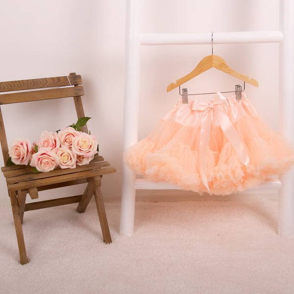 Peach pettiskirt tutu for girls birthday party dress up