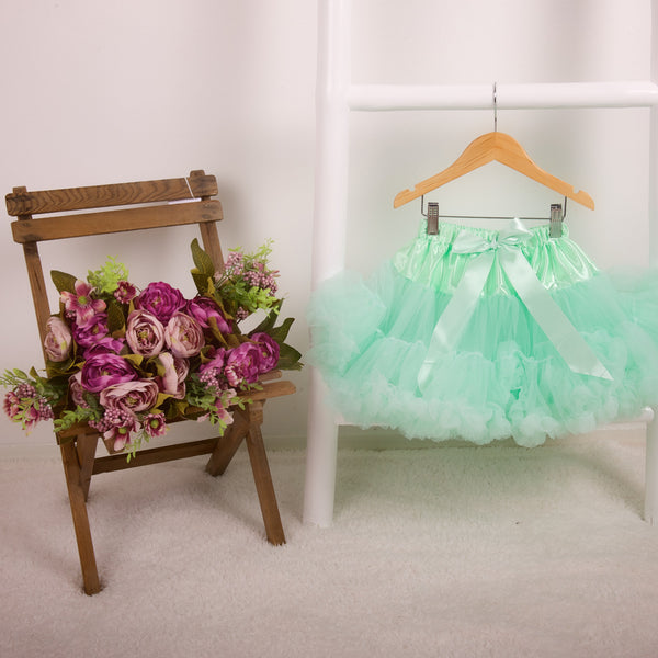 pettiskirt tutu mint green pastel green candy bows angels face bob and blossom miss francis petticoat underskirt